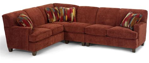 sofa mart st george utah flexsteel dempsey contemporary 3 piece sectional sofa with