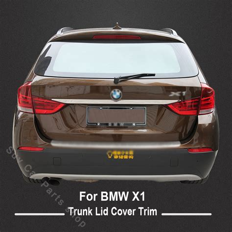 bmw trunk accessories high quality stainless steel trunk lid cover trim