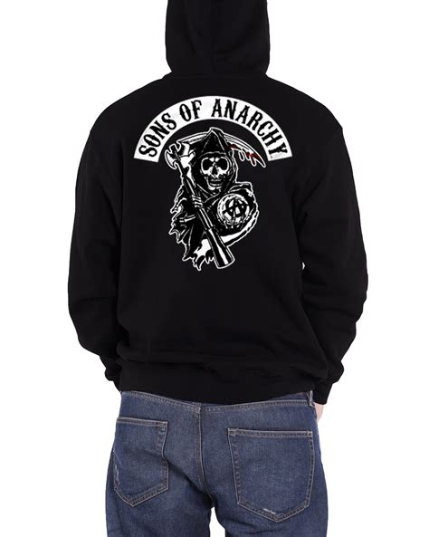 sons of anarchy hoodie reaper samrco logo soa crew official mens new ebay
