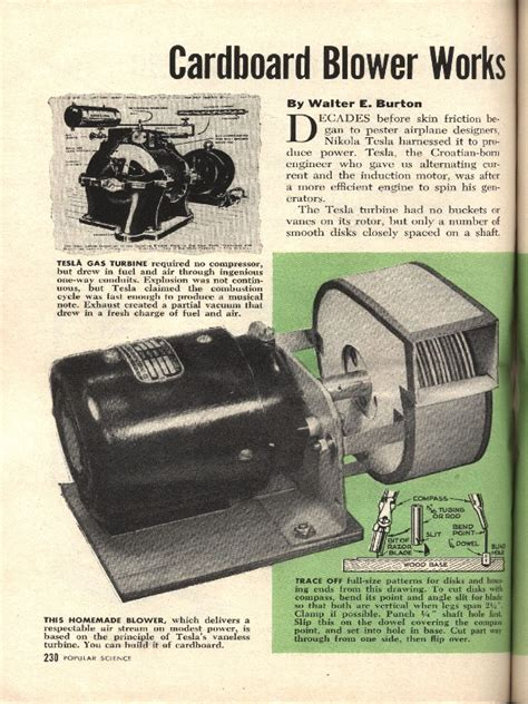 Tesla Compressor The Altmann Combustion Turbine Cft