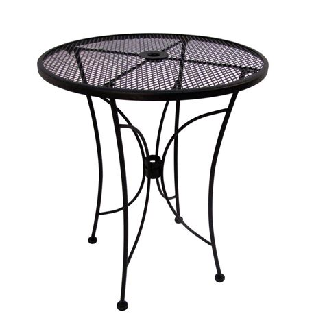 Arlington House Glenbrook 36 In Black Round Counter Patio Black Patio Table