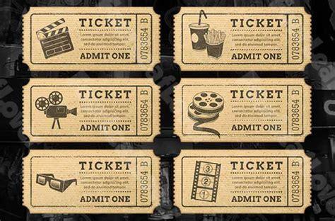 Cinema Ticket Template Word cinema drink ticket template free premium