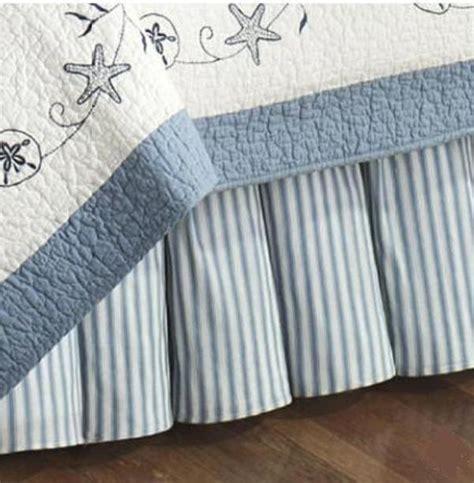 blue ticking stripe or bedskirt treasures