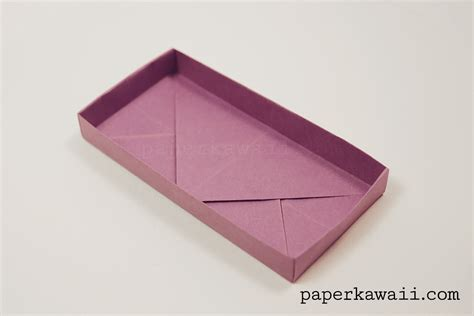 Origami Rectangle Box - origami rectangular envelope box tutorial paper kawaii