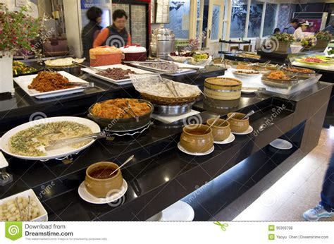 Korean Buffet Restaurant Cuisines Editorial Stock Photo Buffet In