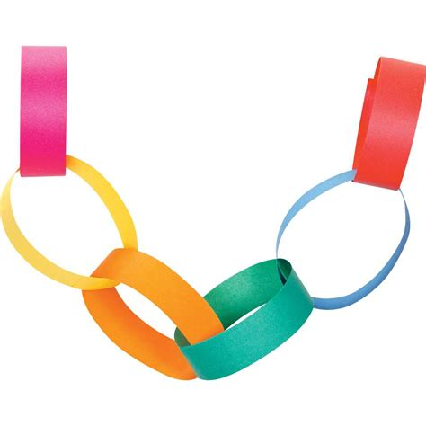 Paper Chains - traditional paper chains