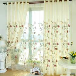 Floral Design Curtains Embroidery Patterned Floral Living Room Curtains Designs