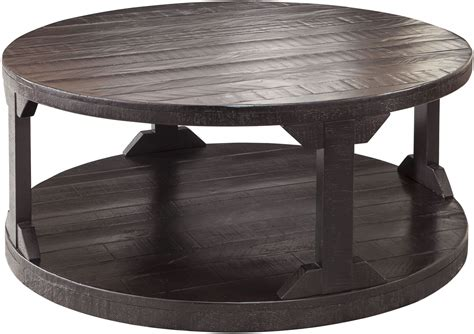 rogness rustic brown cocktail table t745 8