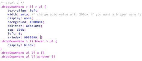 script css untuk membuat menu dropdown membuat menu dropdown 3 level kursus web design