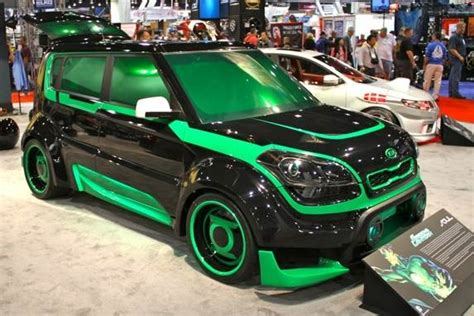 Green Lantern Kia Soul Kia Unveils Four More Justice League Concepts At Sema