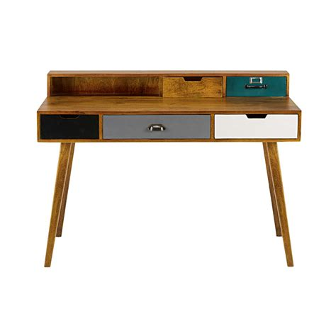 mango wood desk chair 5 drawer solid mango wood desk picadilly maisons du monde
