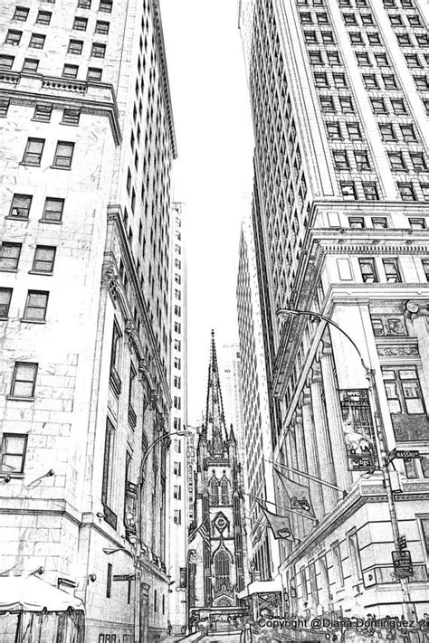 lower manhattan nyc sketch 8x10 drawing new york by ddfoto 40 00 painting new