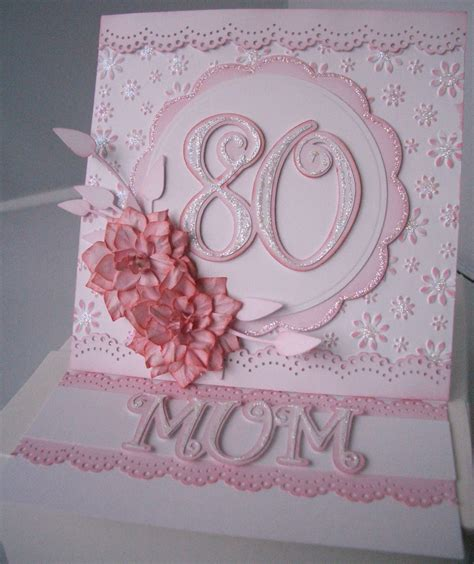 Handmade 80th Birthday Card Ideas - julie s inkspot 80th birthday card