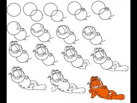 doodle drawing step by step how to draw garfield step by step drawing tutorial