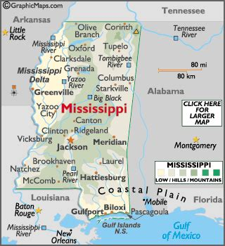 geography of mississippi world atlas