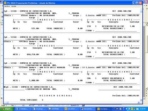 planilla de nomina de pago ruta nomina manejo de novedades informe de novedades