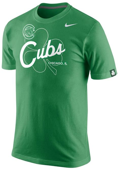 chicago cubs st patrick s day tri blend t shirt by nike