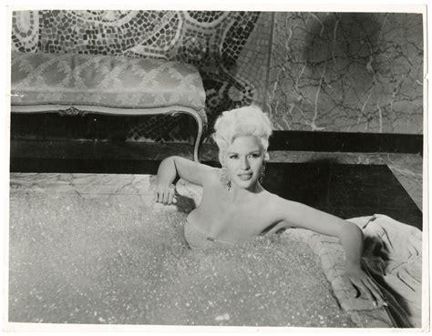 jayne mansfield bathtub jayne mansfield 1957 pin up photograph in bathtub will