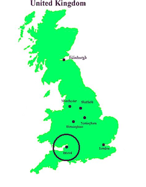 bristol on the map bristol map