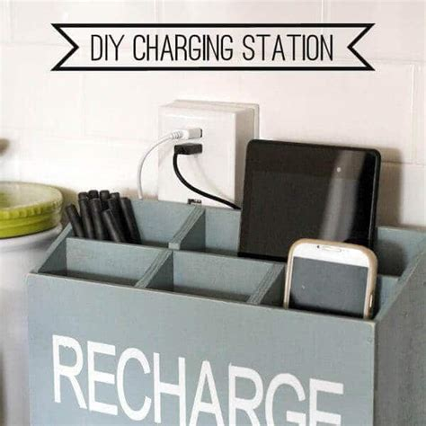 diy home charging station 19 amazing home organization tips and hacks spaceships