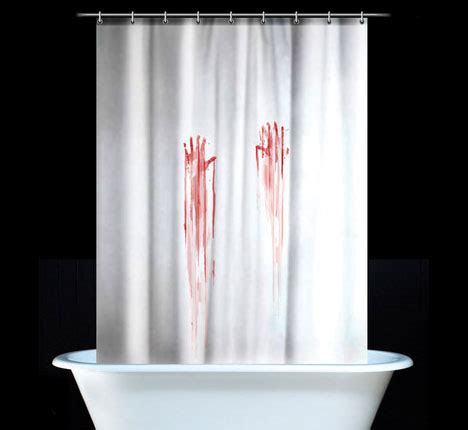 bloody shower curtain and bath mat bloody print shower curtains and bath mats