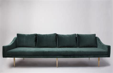 florence 3 seat teal velvet sofa with gold legs 2395