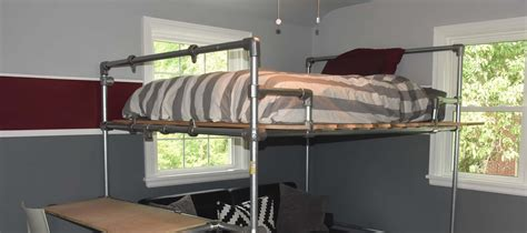 pipe bed frame 20 diy pipe bed frame ideas and plans simplified building