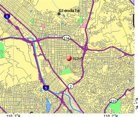 california map glendale 91205 zip code glendale california profile homes