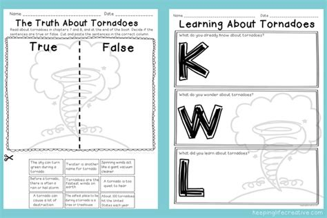 worksheets on tornadoes tornado activities and crafts