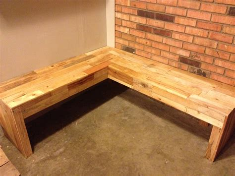 Corner Bench Corner Bench Made From Pallets Completed Projects
