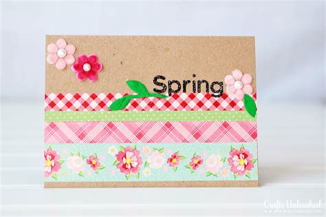 Craft Handmade Cards - washi embellished handmade cards