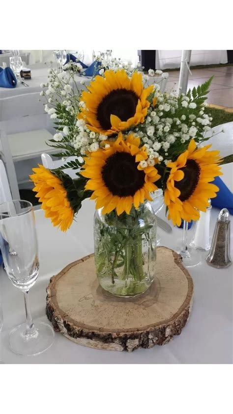 sunflower arrangements ideas best 25 sunflower wedding centerpieces ideas on pinterest
