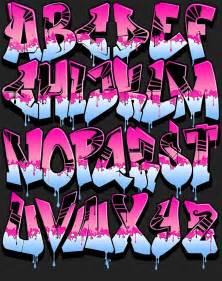 11 wet paint font letter a in graffiti images graffiti