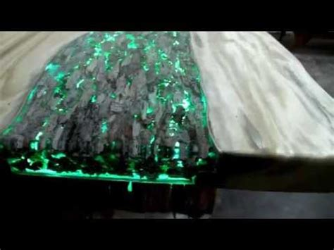 glow in the table glow in the table with photo luminescent resin you
