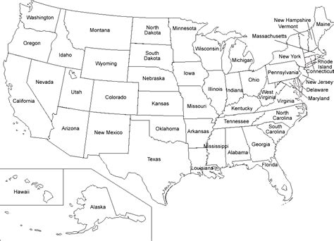 Printable Us Map | printable map of usa map of united states