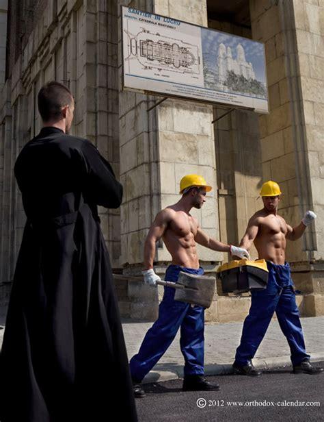 Calendario Ortodoxo Orthodox Calendar Romania Shirtless Priests Clergy