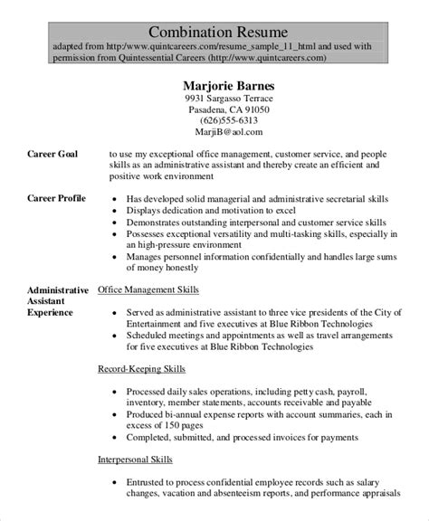 Senior Resume Template by 10 Senior Administrative Assistant Resume Templates Free Sle Exle Format
