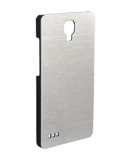 Motomo Brushed Metal Xiaomi Redmi Note Back cellpoint2011 motomo metal silver back cover for xiaomi redmi note plain back covers at