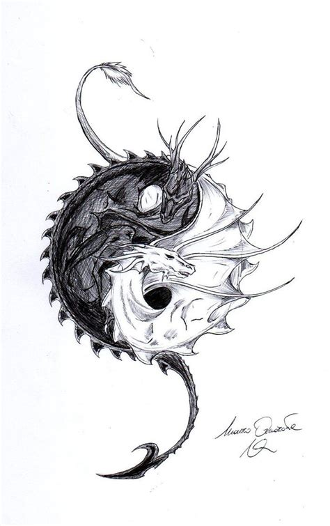 fantasy dragon tattoo designs designs ying yang by