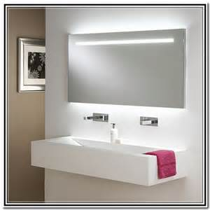 Interior large bathroom mirrors with lights double sink