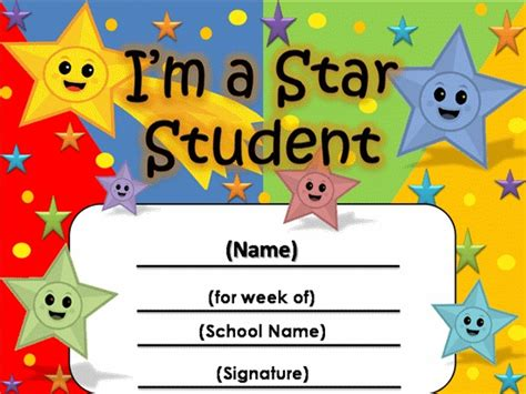 student of the week certificate 2 370 awards for