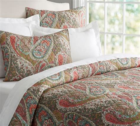 Quilt Pottery Barn by Zia Paisley Quilt Sham Pottery Barn