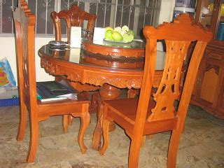 Used Dining Tables On Narra Dining Set Table Samu T Sari Solid Narra Furniture