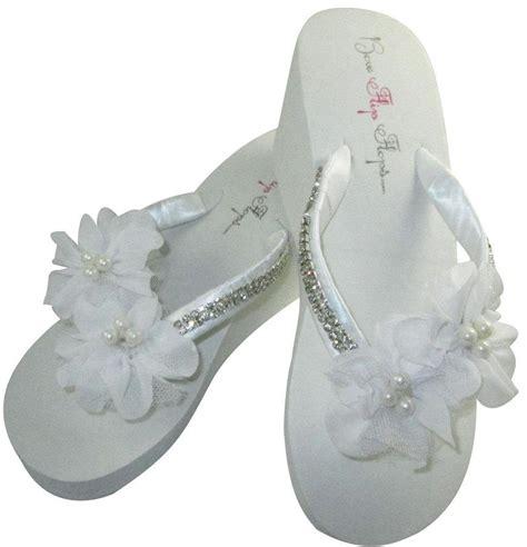 braut flip flops bridal wedge flip flops diamond bling wedding flip flop