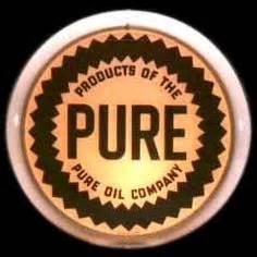 "metal large 24"" round pure oil co. firebird racing gas"
