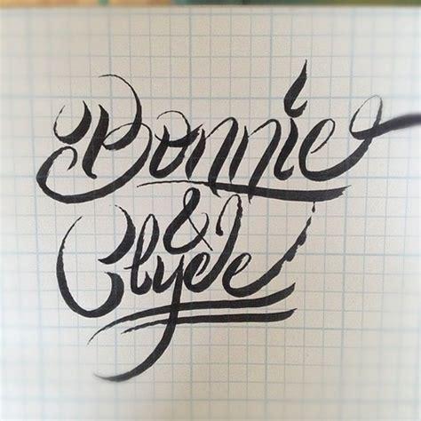 bonnie amp clyde lettering brushpen handlettering dcpdes