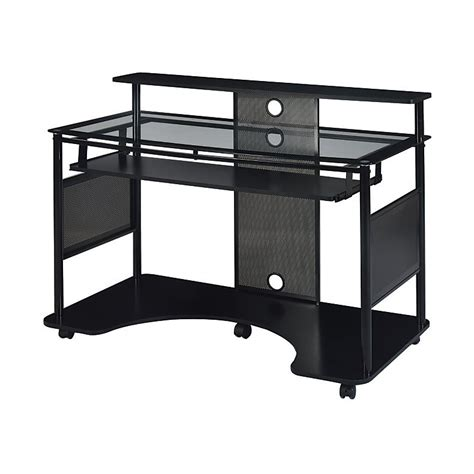 z line designs mobile workstation desk z line designs mobile workstation desk black 218462