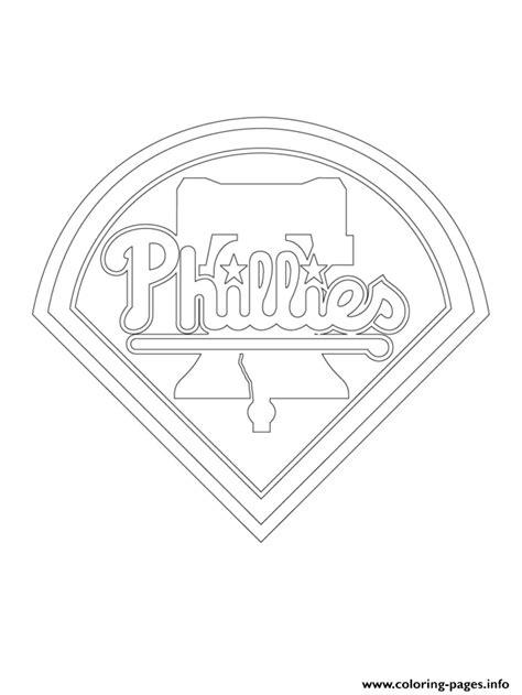 mlb coloring pages philadelphia phillies logo mlb baseball sport coloring