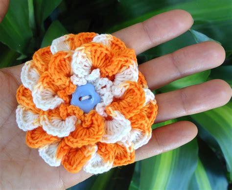 crochet flower pattern magic ring stitch of love patterns crochet flower brooches