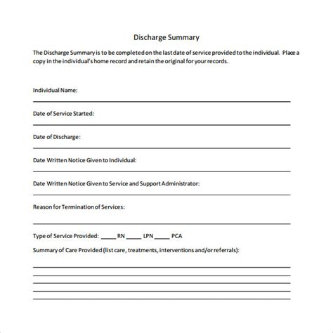 sle discharge summary template discharge summaries